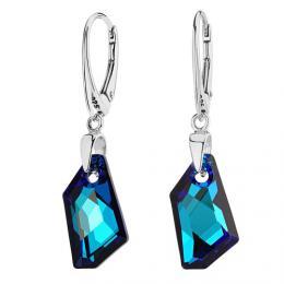 SILVEGO stшнbrnй nбuљnice De-Art Bermuda Blue se Swarovski(R) Crystals