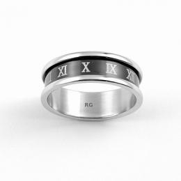 Ocelov� prsten - ��msk� ��slice - AKCE