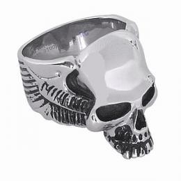 Ocelov� prsten pro mu�e - Lebka - AKCE