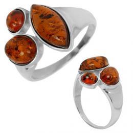 Originбlnн stшнbrnэ prsten s pravэm Jantarem