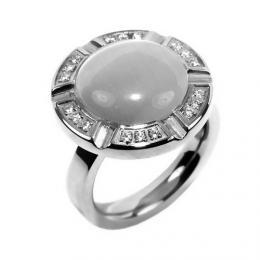 Ocelovэ masivnн prsten s asterickэm kшiљќбlem