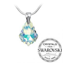Silvego stшнbrnэ pшнvмsek Baroque se Swarovski(R) Crystals 22mm - AB efekt