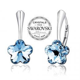 Silvego stшнbrnй nбuљnice se Swarovski(R) Crystals kvмt modrэ