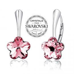 SILVEGO st��brn� n�u�nice se Swarovski(R) Crystals kv�t r��ov�