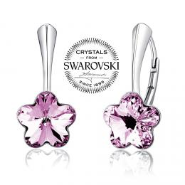 Silvego stшнbrnй nбuљnice se Swarovski(R) Crystals kvмt fialovэ