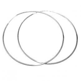 St��brn� n�u�nice kruhy 8 cm - odleh�en� verze