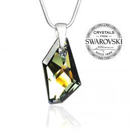 Silvego st��brn� p��v�sek se Swarovski(R) Crystals De-Art Tabac