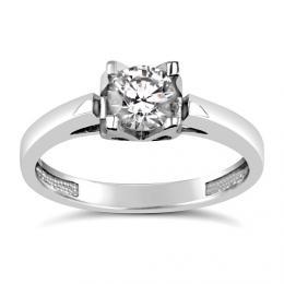 SILVEGO Stшнbrnэ prsten se Swarovski(R) Crystals