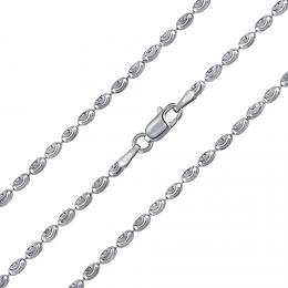 St��brn� kuli�kov� �et�zek fancy diamond cut 2,4 mm