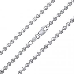 St��brn� kuli�kov� �et�zek fancy diamond cut 3 mm