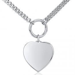Náhrdelník s pøívìskem srdce z chirurgické oceli