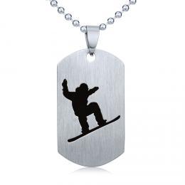 Ocelov� p��v�sek Snowboard - v�etn� �et�zku 60cm