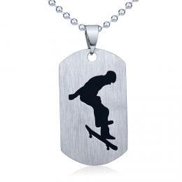Ocelov� p��v�sek Skateboard - v�etn� �et�zku 60cm