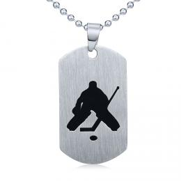 Ocelov� p��v�sek Hokejov� brank�� - v�etn� �et�zku 60cm