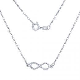 Støíbrný náhrdelník s pøívìskem INFINITY nekoneèno - zvìtšit obrázek
