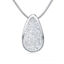 SILVEGO støíbrný pøívìsek 24 mm se Swarovski® Crystals