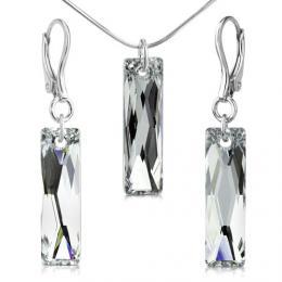 SILVEGO st��brn� souprava se Swarovski® Crystals Argent