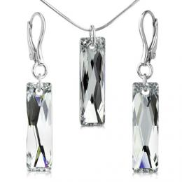 SILVEGO stшнbrnб souprava se Swarovski® Crystals Argent