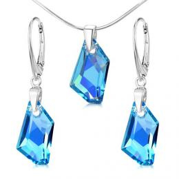 St��brn� set De-Art Aquamarine AB se SWAROVSKI ELEMENTS