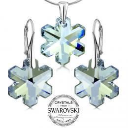 Silvego st��brn� souprava vlo�ky se Swarovski(R) Crystals 20mm Blue Shade