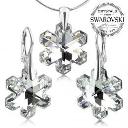 SILVEGO støíbrná souprava vloèky se Swarovski® Crystals 20mm Argent