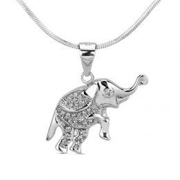 PRIA st��brn� p��v�sek slon s micro zirkony