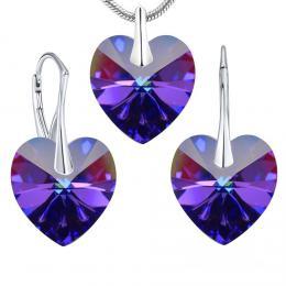 Silvego set šperkù Heliotrop se Swarovski® Crystals