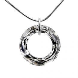 SILVEGO stшнbro-pшнvмsek Cosmic Ring 20mm se Swarovski Crystal