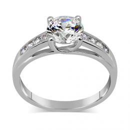 Stшнbrnэ prsten EXCLUSIVE se Swarovski Zirconia