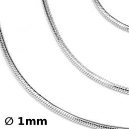 Støíbrný øetízek hádek 1mm