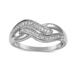Obl�ben� st��brn� prsten CHIARA