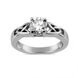 WEST SIDE Lesklэ ocelovэ prsten v keltskйm stylu