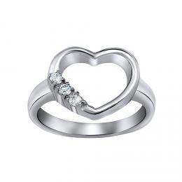WEST SIDE ocelov� prsten srdce