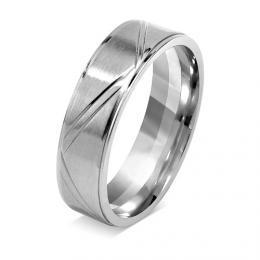 Snubní prsten pro muže a ženy z chirurgické oceli