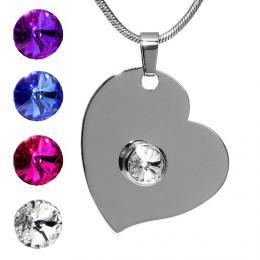 SILVEGO pшнvмsek z oceli se Swarovski(R) Crystals