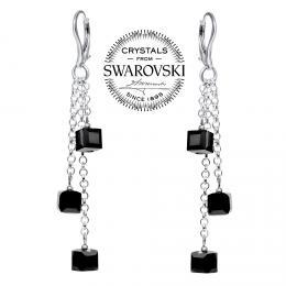 SILVEGO stшнbrnй шetнzkovй nбuљnice Kosteиky se Swarovski® Crystals Silver Night