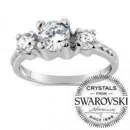SILVEGO st��brn� prsten VIA se Swarovski(R) Crystals