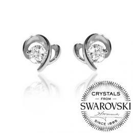 Nбuљniиky ze stшнbra Silvego se Swarovski(R) Zirconia
