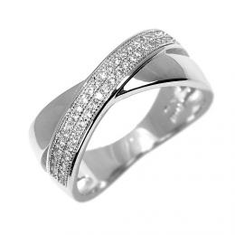 Záøivý støíbrný prsten LÉONCE