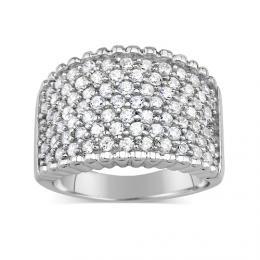 PRIA luxusnн stшнbrnэ prsten s micro zirconia