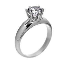 Elegantnн stшнbrnэ prsten se Swarovski Zirconia