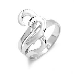 St��brn� prsten origin�ln�ho tvaru