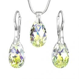 Stшнbrnб souprava Kapka 16mm Crystal AB se SWAROVSKI ELEMENTS