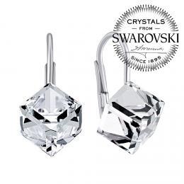 SILVEGO st��brn� n�u�nice �ir� kostky Swarovski® Crystals