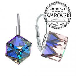 SILVEGO stшнbrnй nбuљnice kosteиky Swarovski® Crystals BERMUDA BLUE