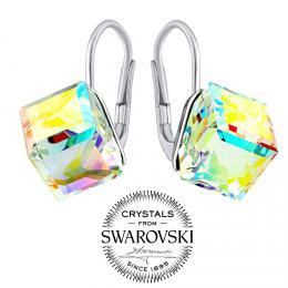 SILVEGO stшнbrnй nбuљnice  kosteиky Swarovski® Crystals AB