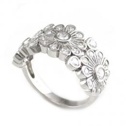 Stшнbrnэ prsten se zirkony - kvмty