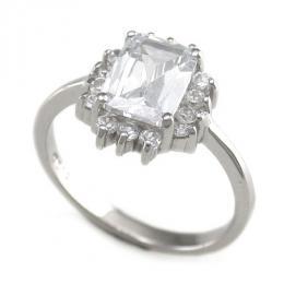 St��brn� prsten - zirkony