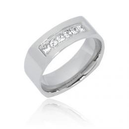 Ocelovэ atraktivnн prsten se zirkony