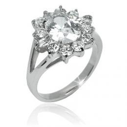 Luxusn� �perk se zirkony - ocelov� prsten